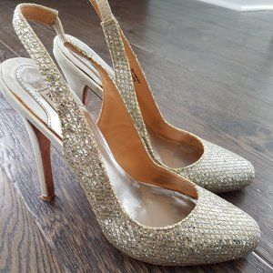 BADGLEY MISCHKA Sequenced High Heel Shoes Size 6